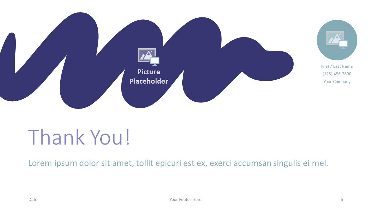 Free Strokes Template for Google Slides - Closing / Thank you