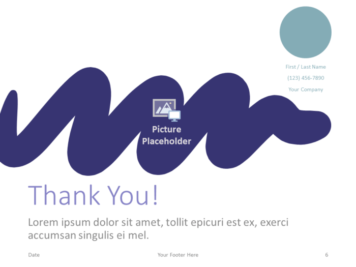 Free Strokes Template for PowerPoint - Closing / Thank you