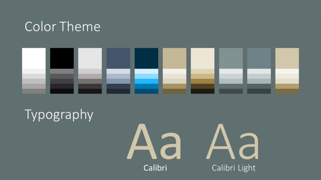 Free Eleganza Template for Google Slides – Colors and Fonts