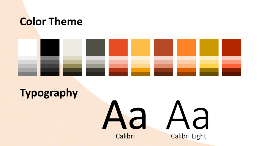 Free Fall Template for Google Slides – Colors and Fonts