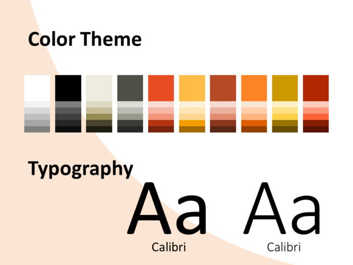 Free Fall Template for PowerPoint – Colors and Fonts