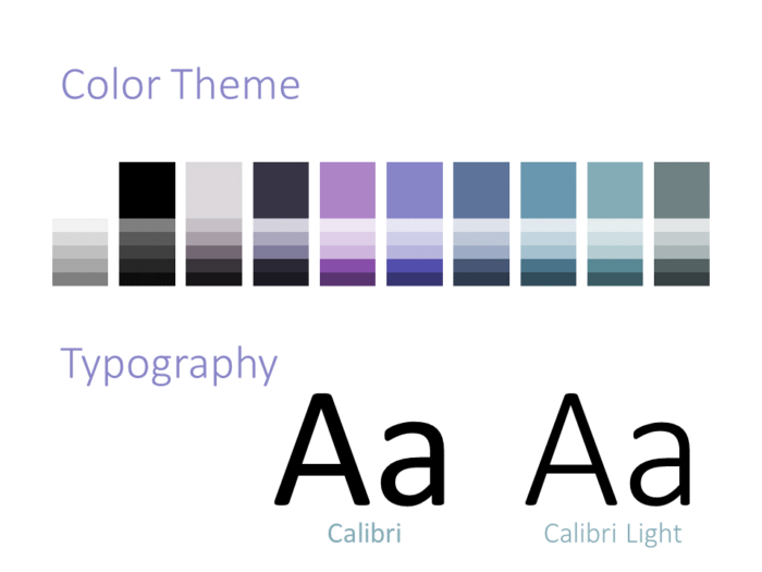 Free Strokes Template for PowerPoint – Colors and Fonts