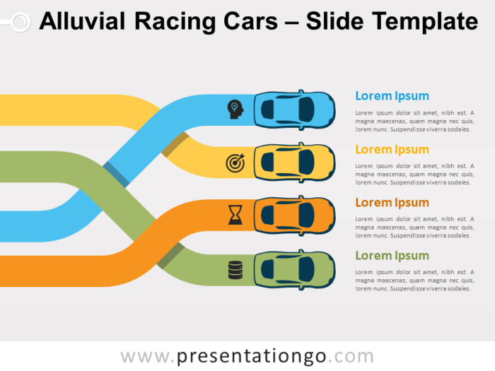 Free Alluvial Racing Cars for PowerPoint