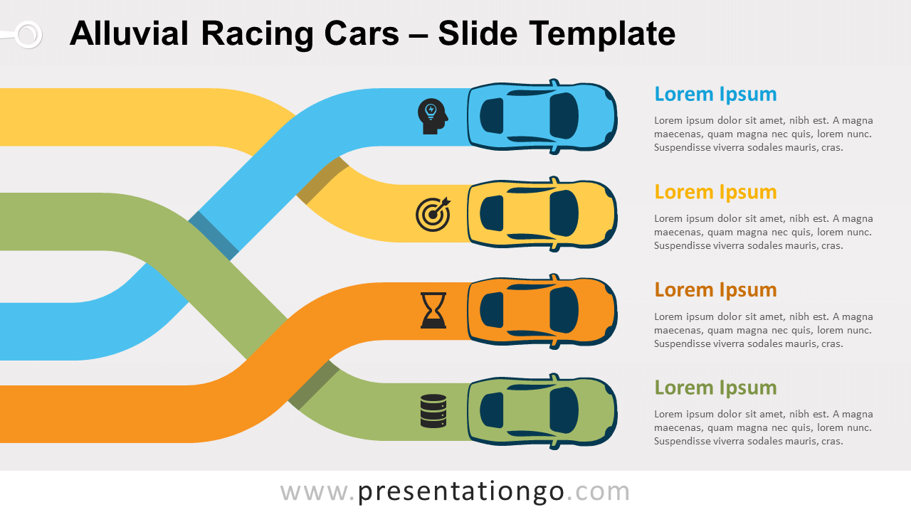 Free Alluvial Racing Cars for PowerPoint and Google Slides