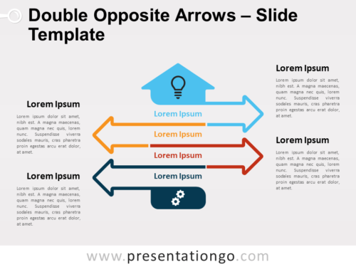 Free Double Opposite Arrows Infographics for PowerPoint