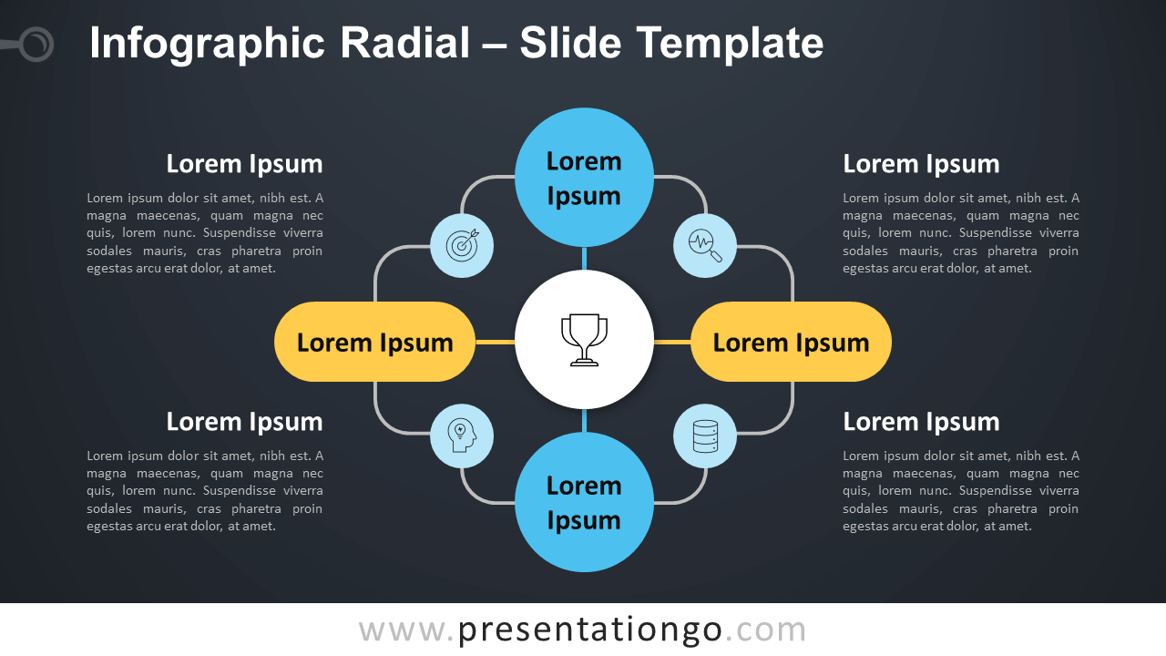 Free Infographic Radial Diagram for PowerPoint and Google Slides