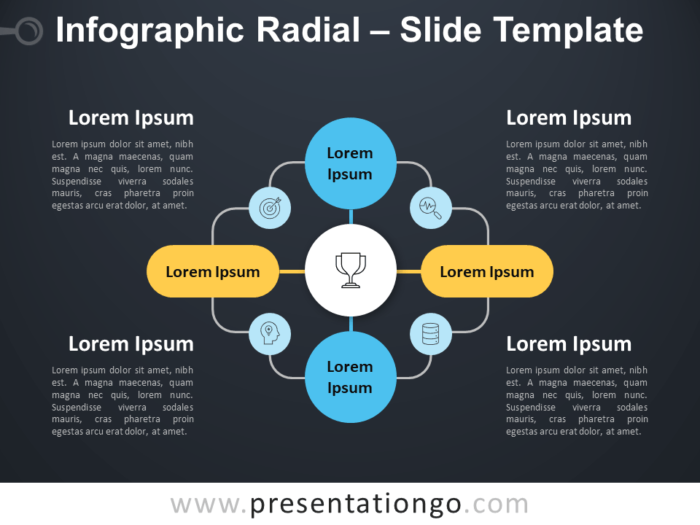 Free Infographic Radial PowerPoint Diagram