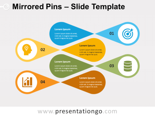 Free Mirrored Pins for PowerPoint