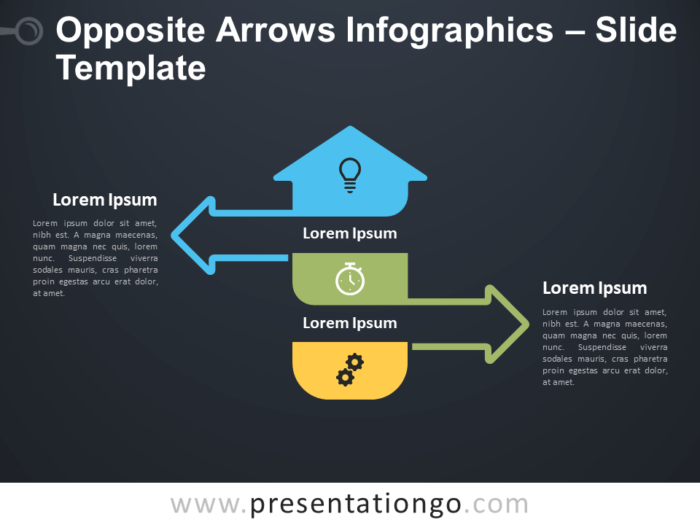 Free Opposite Arrows Infographics Diagram for PowerPoint
