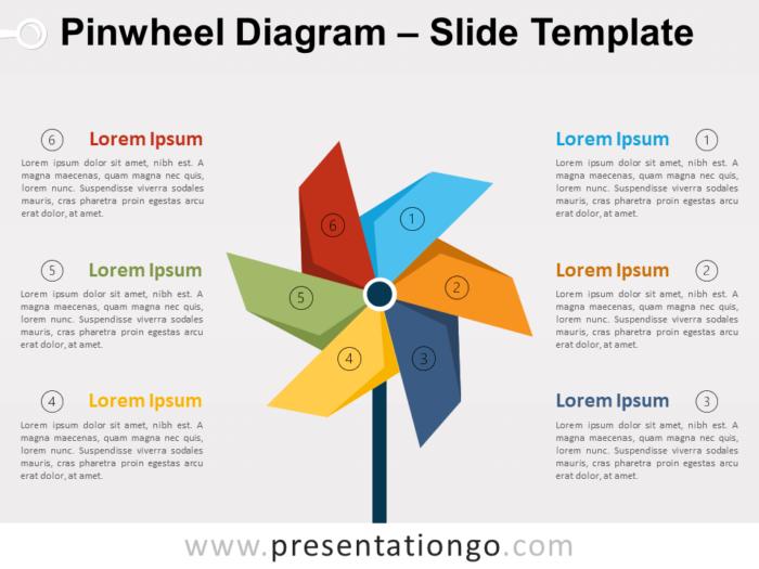 Free Pinwheel Diagram for PowerPoint