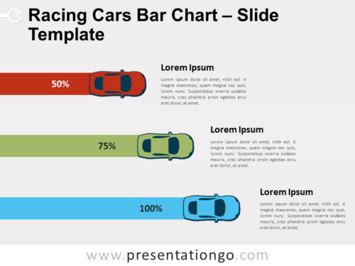 Free Racing Cars Bar for PowerPoint