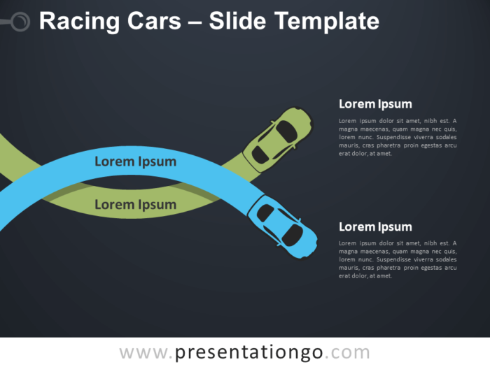 Free Racing Cars Infographic for PowerPoint