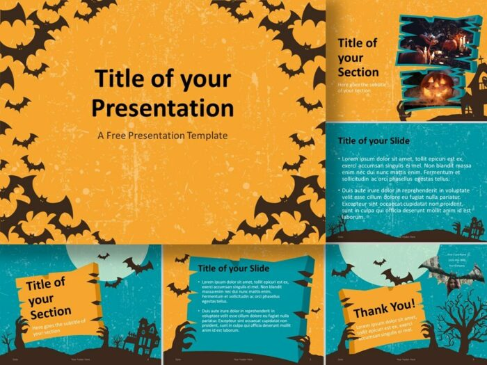 Free SPOOKY Template for PowerPoint and Google Slides