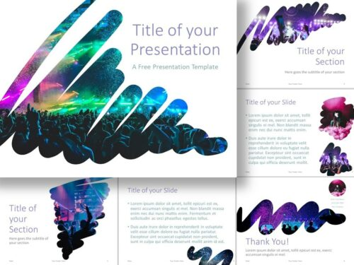 Free Strokes Template for PowerPoint and Google Slides