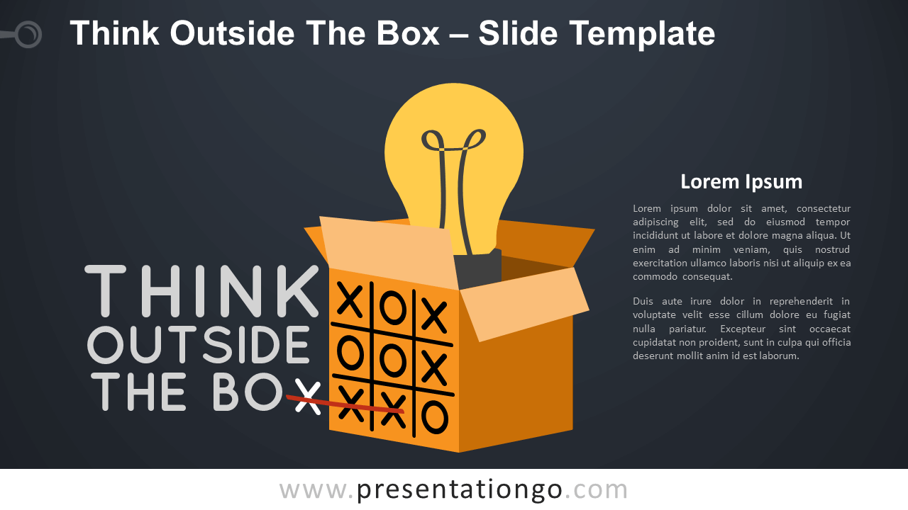 Free Think Outside The Box Infographic for PowerPoint and Google Slides