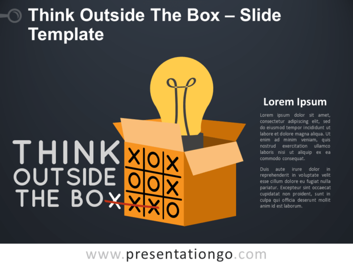 Think Outside The Box Concept Slide for PowerPoint