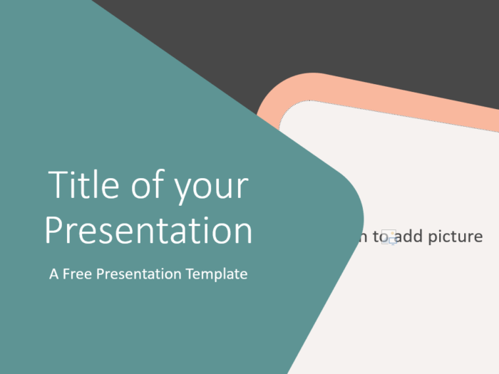 Free Abstract Rounded Corners Template for Google Slides - Cover Slide