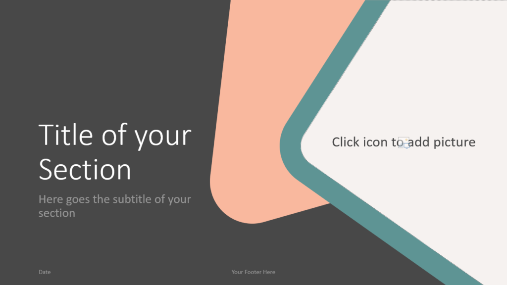Free Abstract Rounded Corners Template for Google Slides – Section Slide (Variant 1)