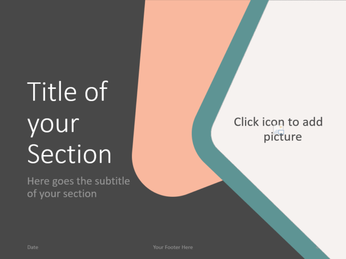 Free Abstract Rounded Corners Template for PowerPoint – Section Slide (Variant 1)
