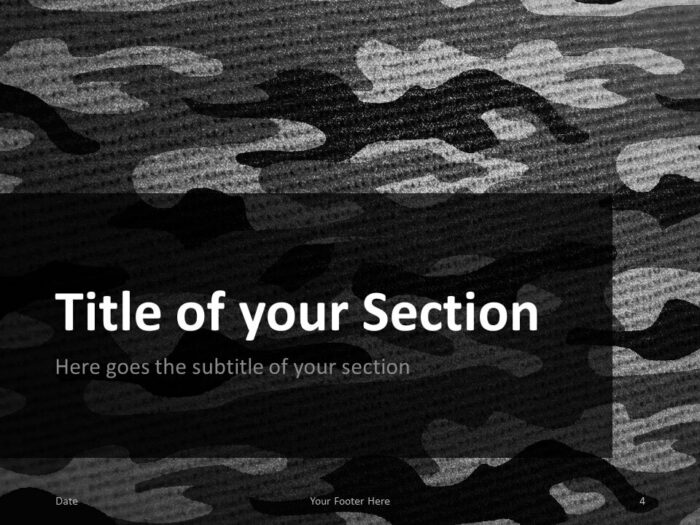 Free CAMO Template for PowerPoint – Section Slide (Variant 1)