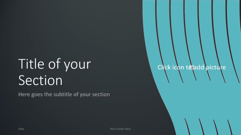 Free Wavy Template for Google Slides – Section Slide (Variant 1)