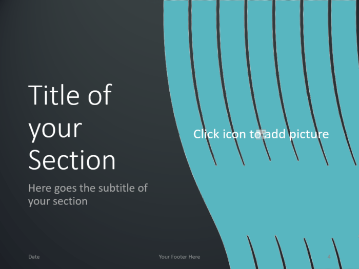 Free Wavy Template for PowerPoint – Section Slide (Variant 1)
