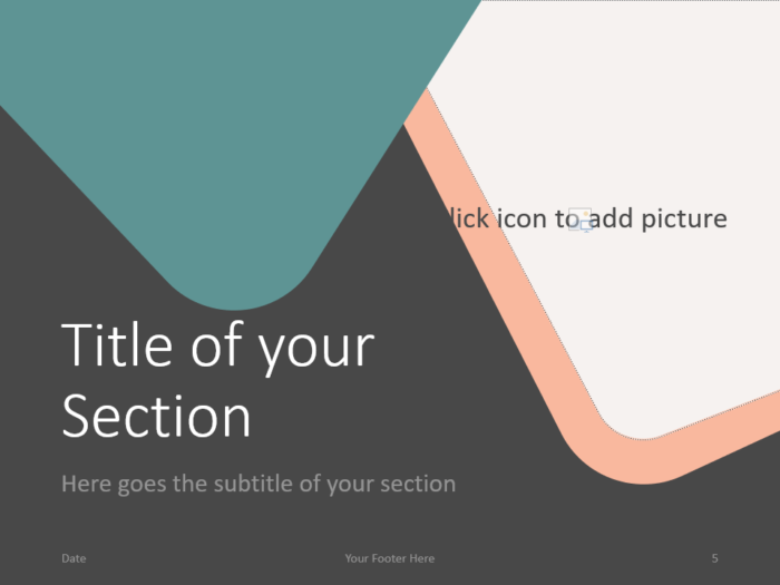 Free Abstract Rounded Corners Template for PowerPoint – Section Slide (Variant 2)