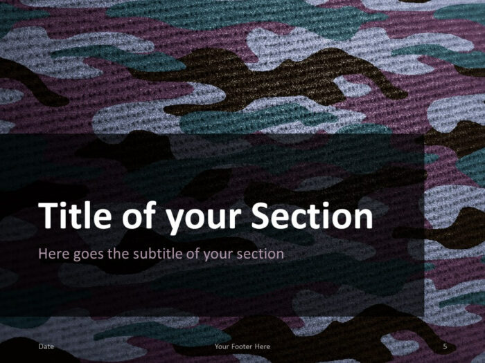 Free CAMO Template for PowerPoint – Section Slide (Variant 2)