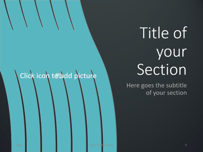 Free Wavy Template for PowerPoint – Section Slide (Variant 2)