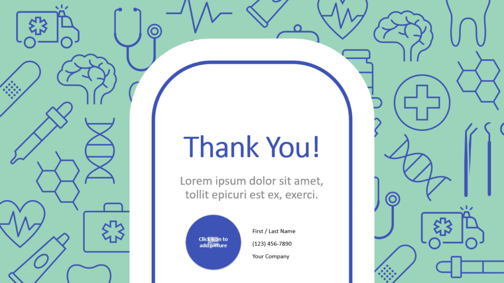 Free Medicons Medical Health Template for Google Slides - Closing / Thank you