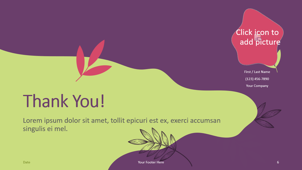 Free Sorbet Leaves Template for Google Slides - Closing / Thank you