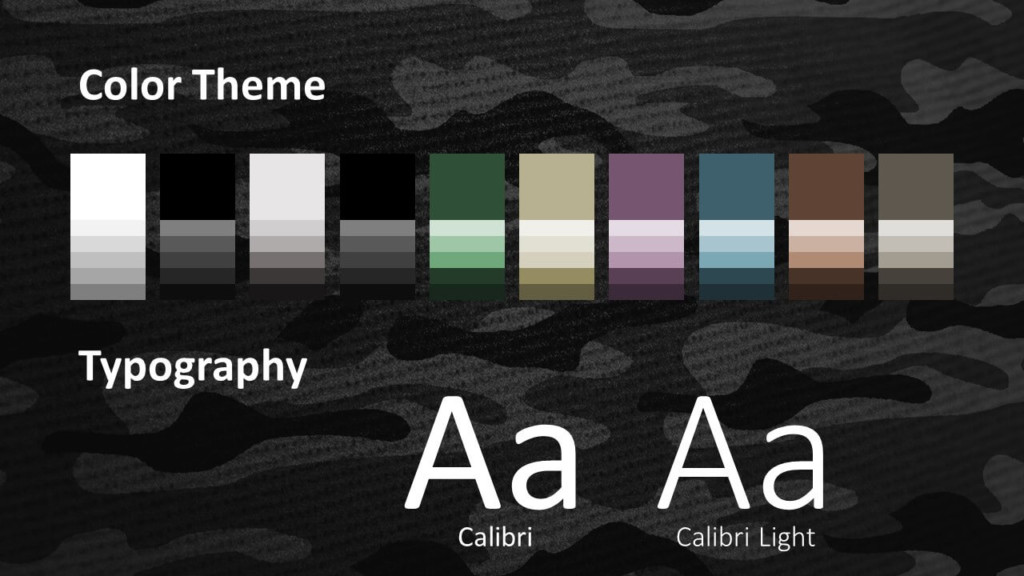 Free CAMO Template for Google Slides – Colors and Fonts