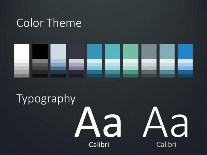 Free Wavy Template for PowerPoint – Colors and Fonts