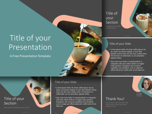 Free Abstract Rounded Corners Template for PowerPoint and Google Slides