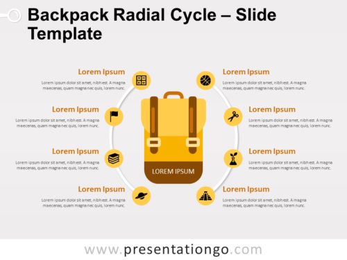 Free Backpack Radial Cycle for PowerPoint