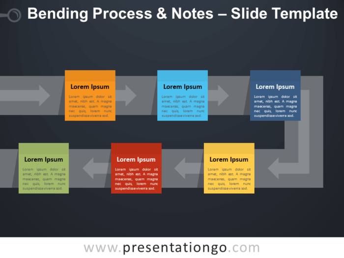 Free Bending Process & Notes Template for PowerPoint