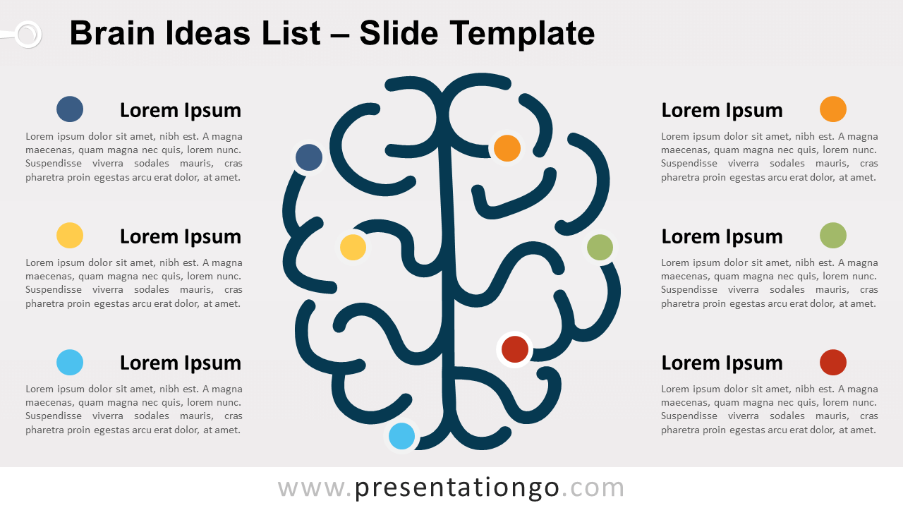 Free Brain Ideas List for PowerPoint and Google Slides