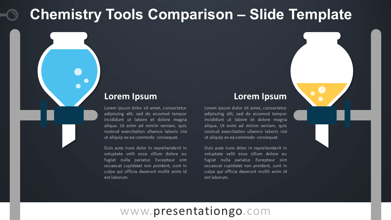 Free Chemistry Tools Comparison Infographic for PowerPoint and Google Slides
