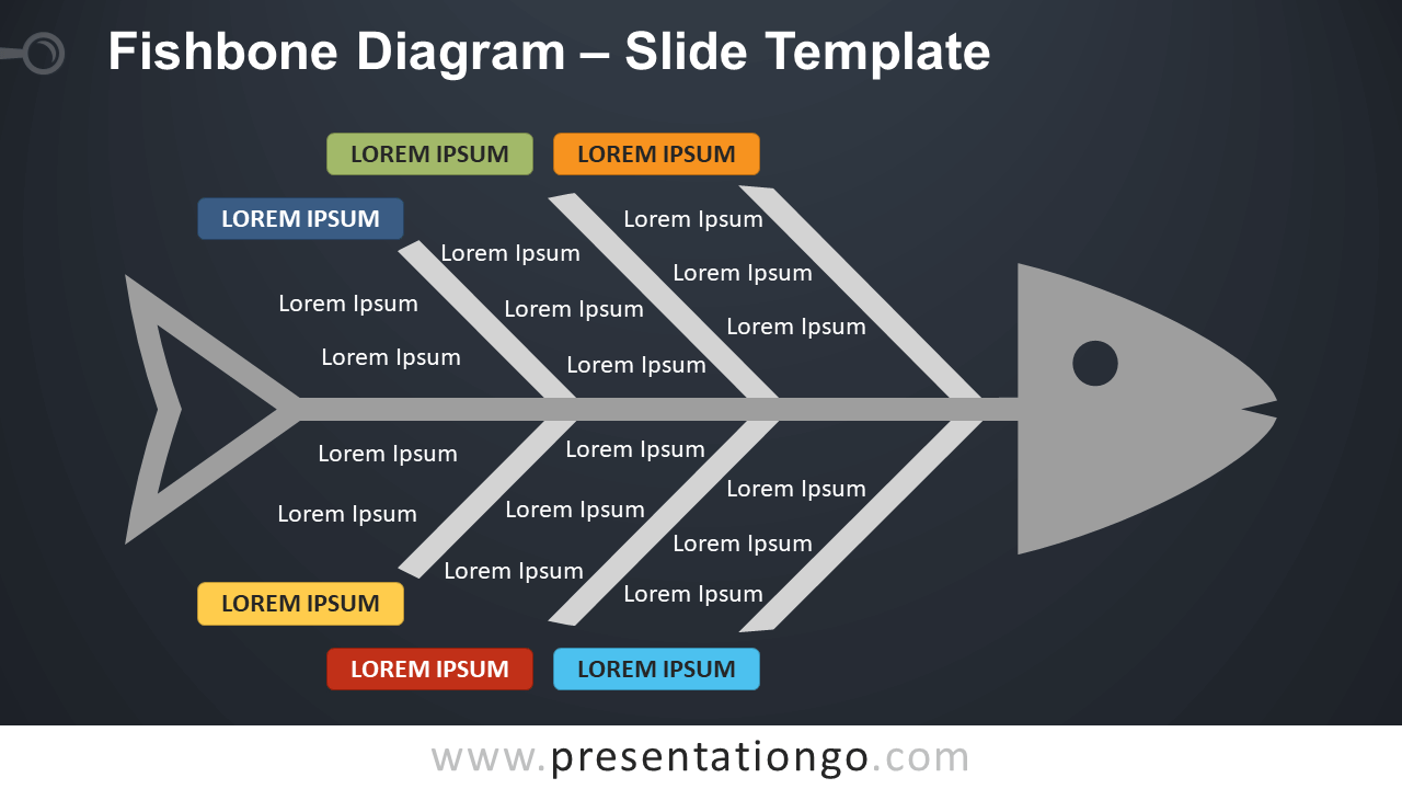 Free Fishbone Diagram Infographic for PowerPoint and Google Slides
