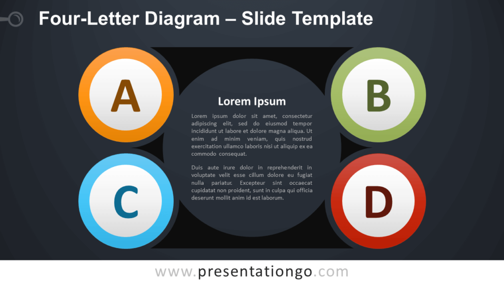 Free Four-Letter Diagram Infographic for PowerPoint and Google Slides