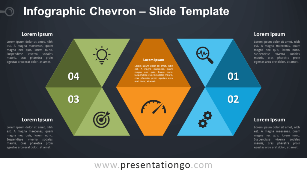 Free Infographic Chevron Diagram for PowerPoint and Google Slides