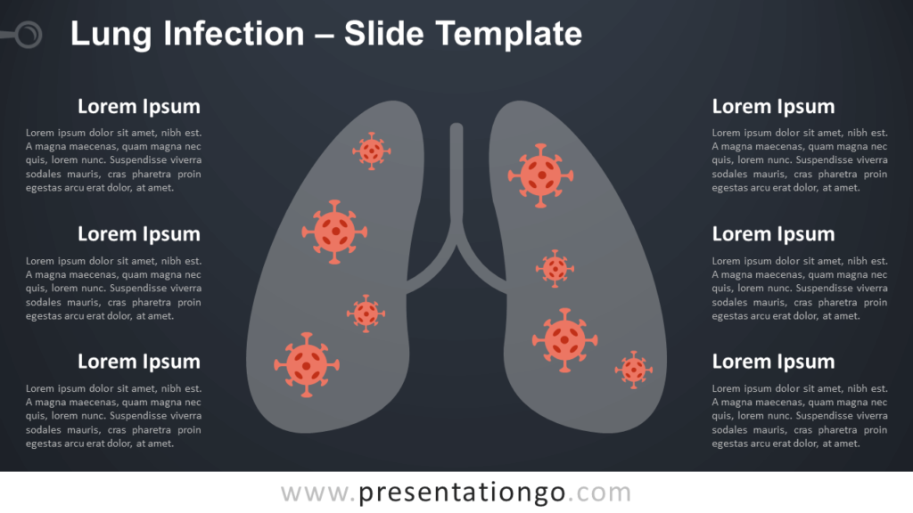 Free Lung Infection Infographic for PowerPoint and Google Slides