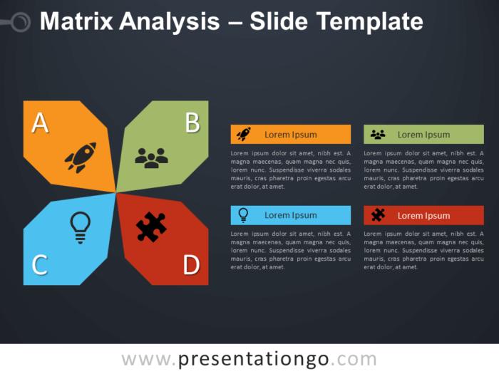Free Matrix Analysis Diagram for PowerPoint