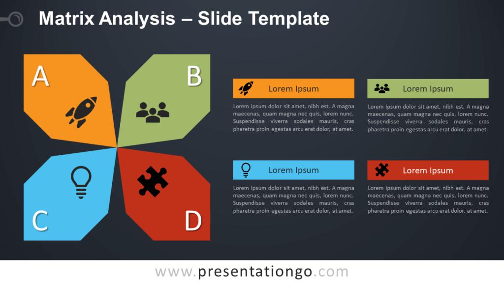 Free Matrix Analysis Diagram for PowerPoint and Google Slides