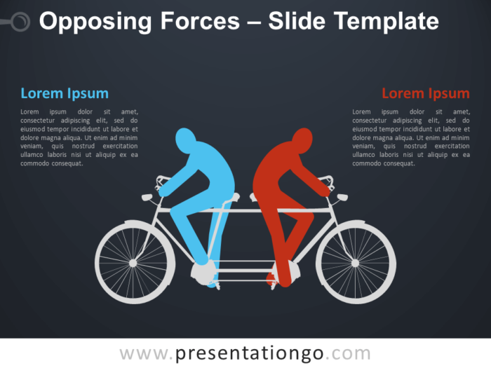Free Opposing Forces Infographic for PowerPoint