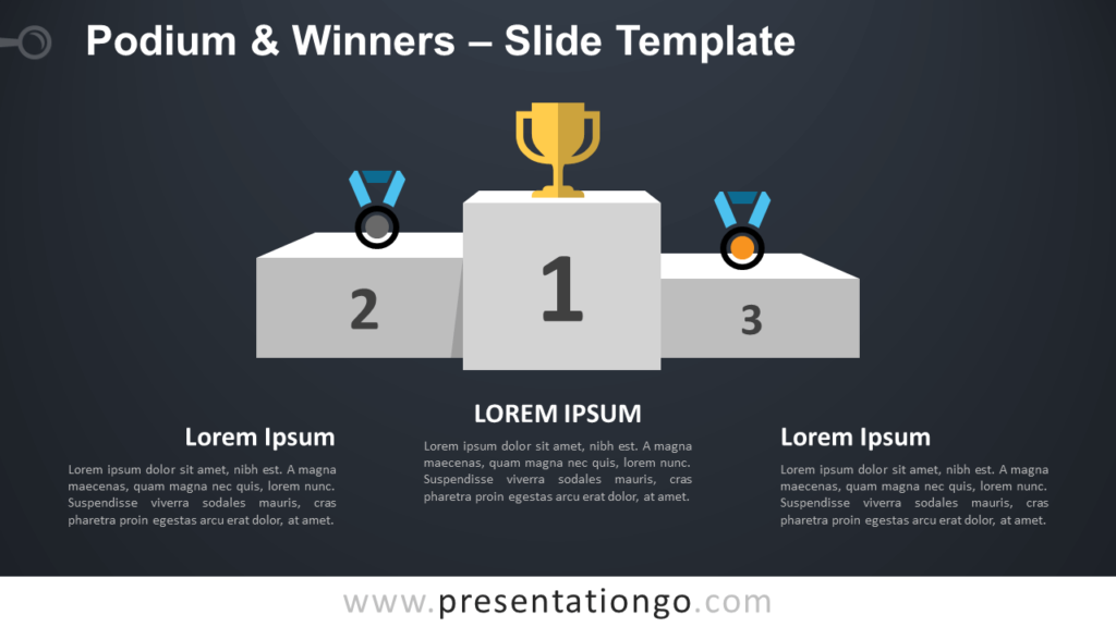 Free Podium Winners Infographic for PowerPoint and Google Slides