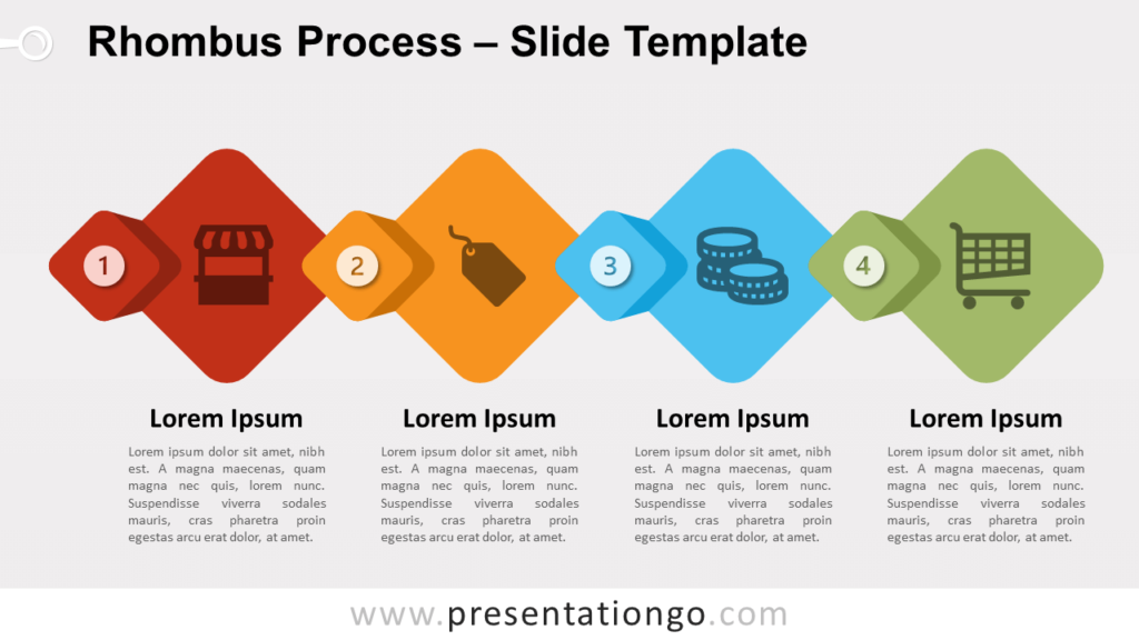 Free Rhombus Process for PowerPoint and Google Slides