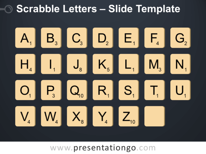 Free Scrabble Letters Infographic for PowerPoint