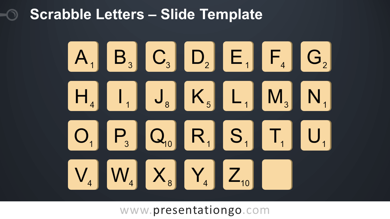 Free Scrabble Letters Infographic for PowerPoint and Google Slides