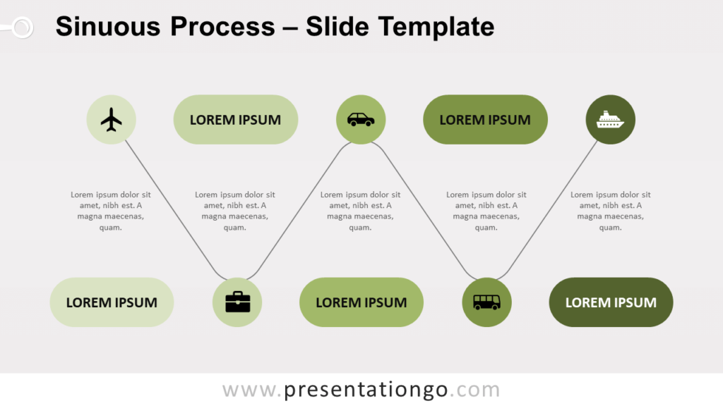 Free Sinuous Process for PowerPoint and Google Slides